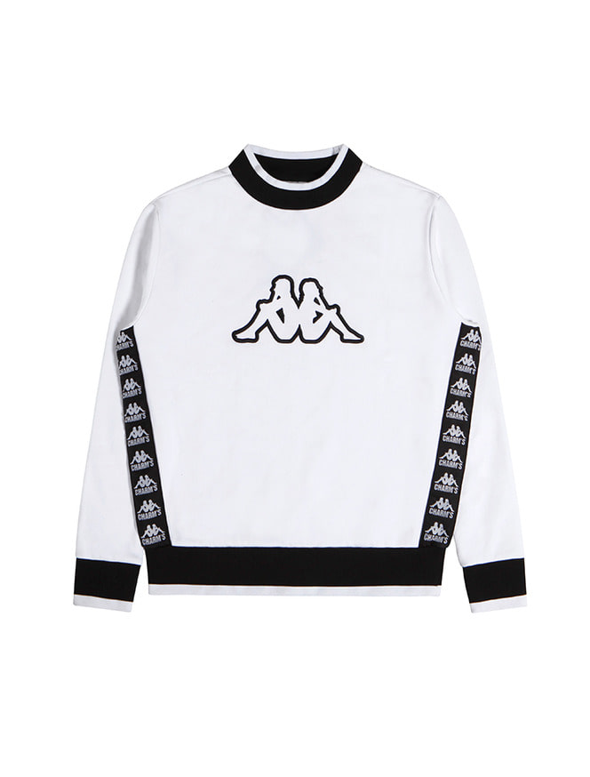 CHARMS X KAPPA 222BANDA SIDE SWEATSHIRT / WH