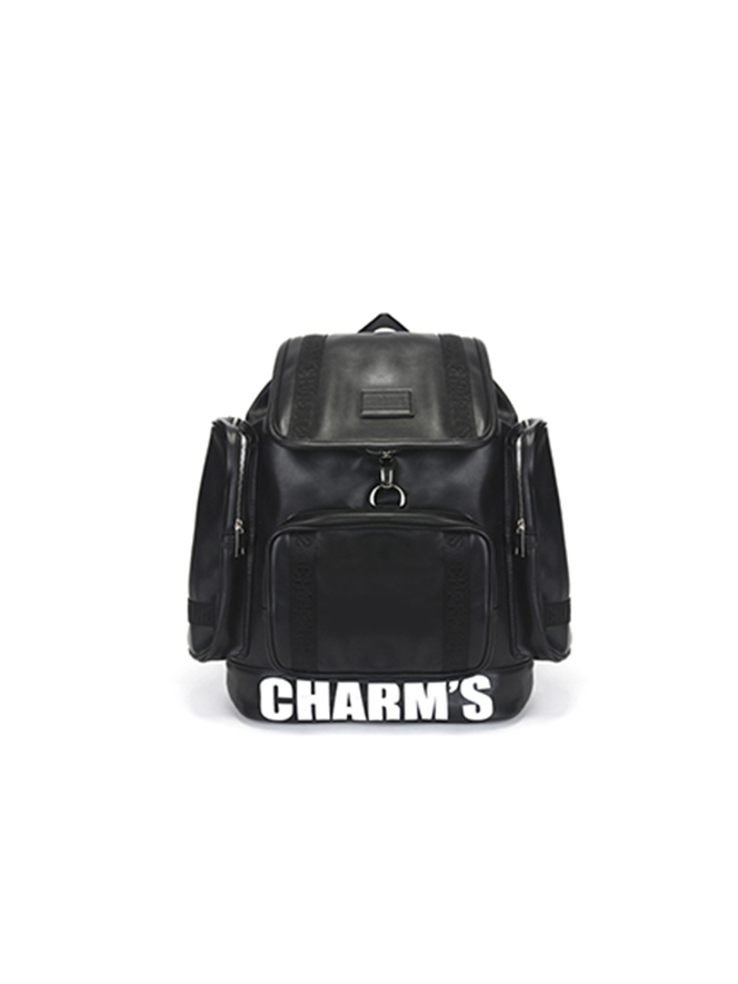PUBERTY Leather backpack / BK