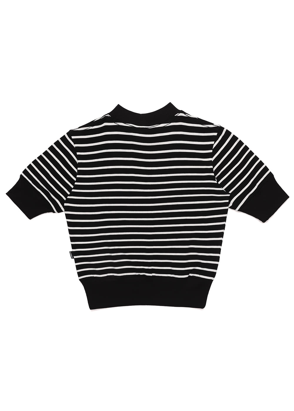 Heart Lip Logo Stripe Lib Crop T BK