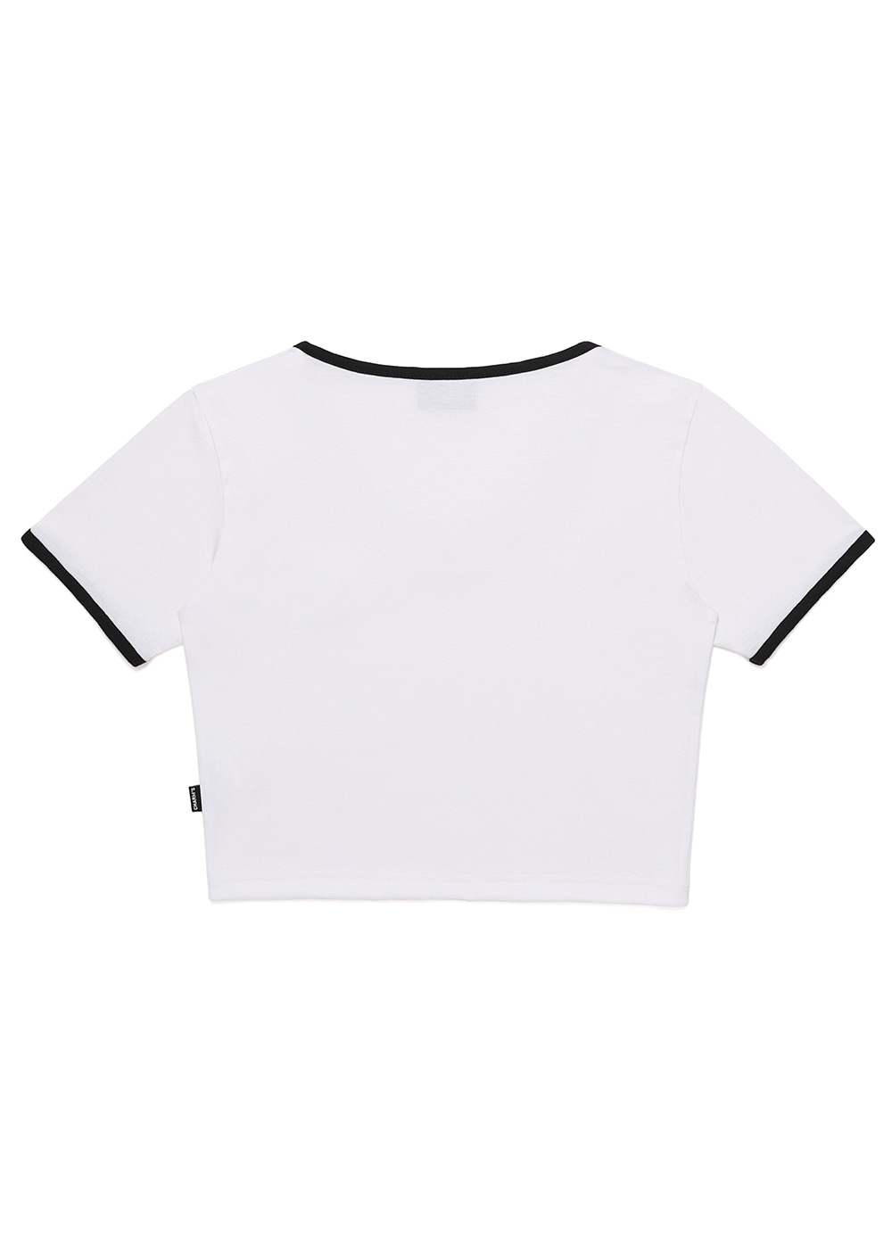 Heart Lip Logo U Neck Crop T WH