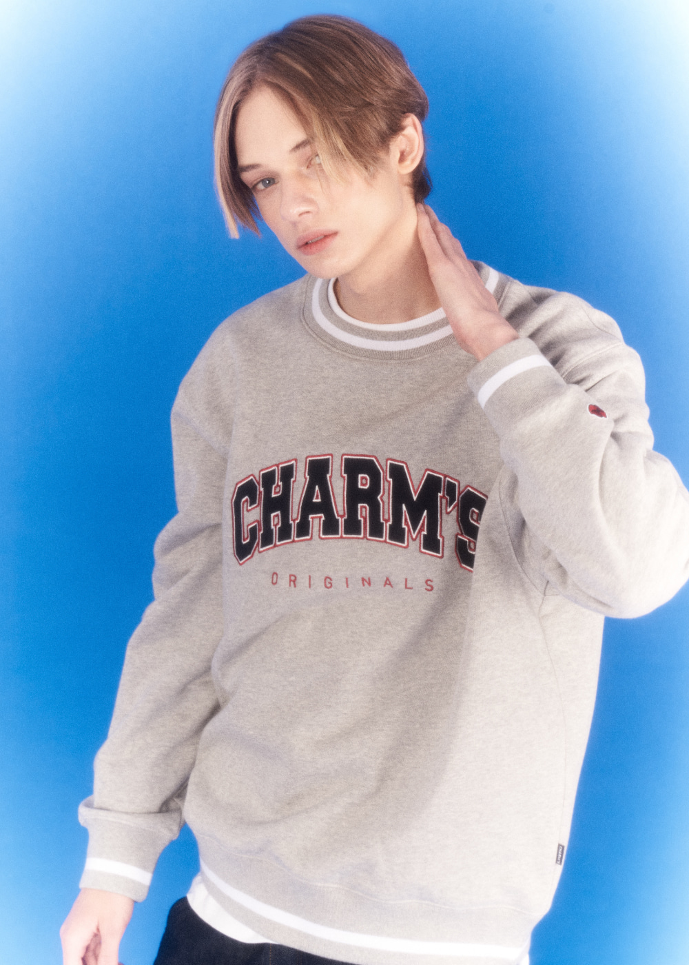 CHARMS APPLIQUE  LOGO SWEATSHIRTS GY