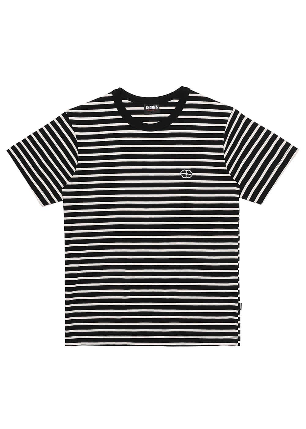 Heart Lip Logo Stripe T Shirts BK