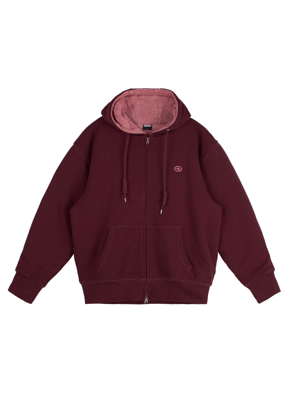 CHARMS HEART LIP ZIP UP HOODIE BG