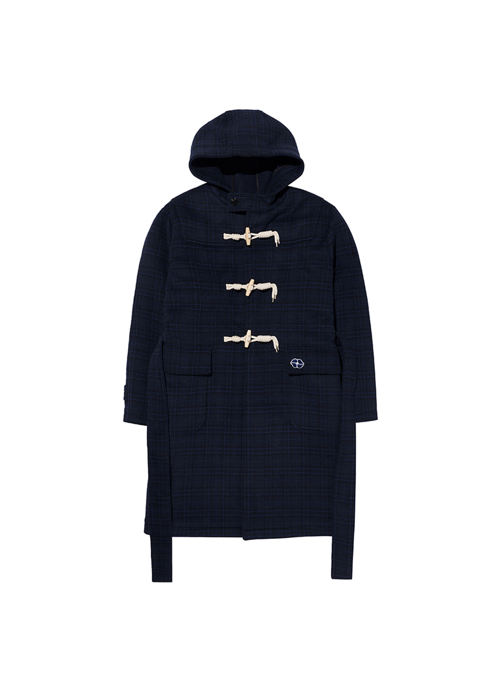 CHARMS DUFFLE WOOL COAT BL